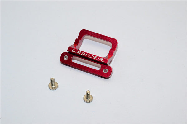 XMods Evolution Touring Aluminum Front Body Lock Plate With Screws (For Lancer) - 1Pc Set Red