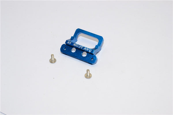 XMods Evolution Touring Aluminum Front Body Lock Plate With Screws (For Mustang) - 1Pc Set Blue