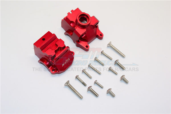 Traxxas XO-01 Supercar / Deegan 38 Fiesta ST Rally Aluminum Front Gear Box - 2Pcs Set Red