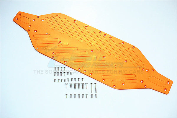 Traxxas XO-01 Supercar Aluminum 4mm Main Chassis With Stainless Steel Screws - 1 Set Orange