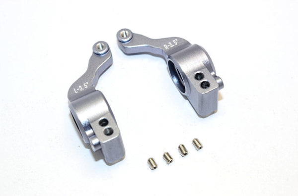 Traxxas XO-01 Supercar Aluminum Rear Knuckle Arm (3.5 Degree Angle) - 1Pr Set Gray Silver
