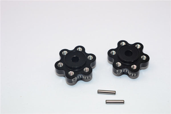Axial Yeti Aluminum 2.2 Wheel Hub Adapters (9mm Thickness) - 1Pr Set Black
