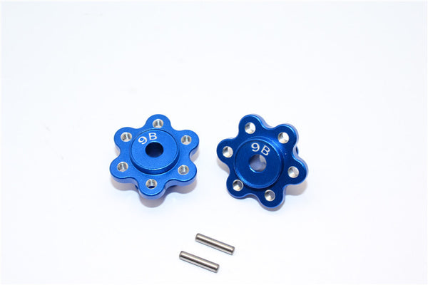 Axial Yeti Aluminum 2.2 Wheel Hub Adapters (9mm Thickness) Economy Version - 1Pr Set Blue
