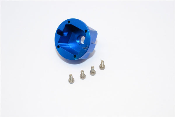 Axial Yeti, Exo, Wraith & SCX10 Aluminum Diff Case - 1 Pc Set Blue