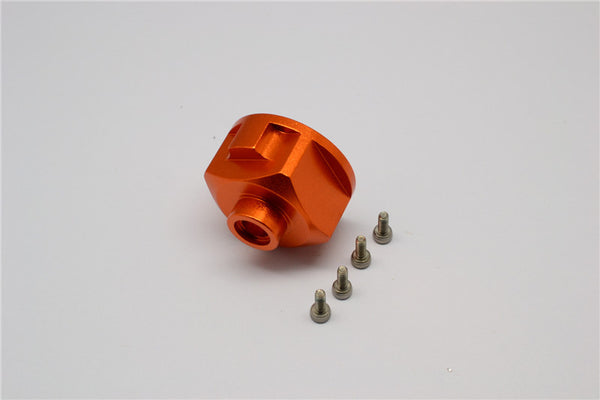 Axial Yeti, Exo, Wraith & SCX10 Aluminum Diff Case - 1 Pc Set Orange