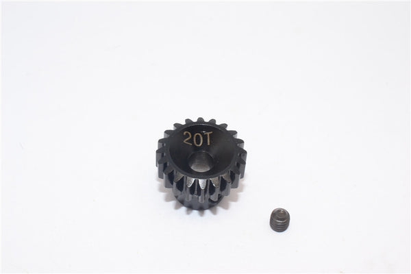 Axial Yeti & Yeti XL Steel #45 Pinion Gear 32 Pitch 20T - 1Pc Set Black