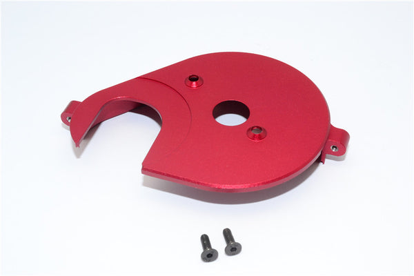 Axial Yeti & RR10 Bomber Aluminum Spur Gear Cover Plate - 1Pc Set Red