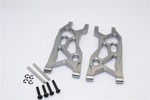 Axial Yeti Aluminum Front Lower Arm - 1 Pr Set Gray Silver
