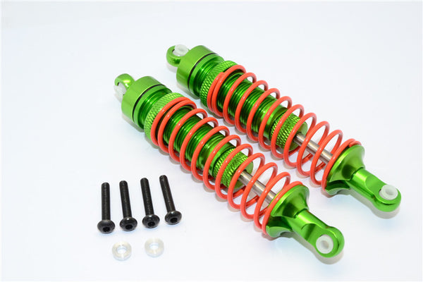 Axial Yeti Aluminum Front Adjustable Spring Damper (95mm) - 1Pr Set Green