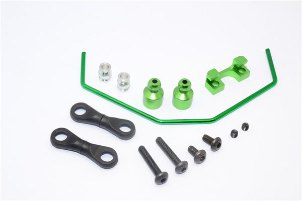 Axial Yeti Aluminum Anti-Roll Bar - 3Pcs Set Green