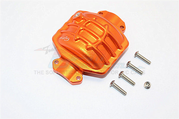 Axial Yeti XL Monster Buggy Aluminum Rear Axle Cover - 1Pc Set Orange