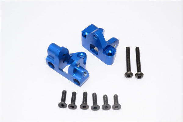 Axial Yeti XL Monster Buggy Aluminum Rear Lower Chassis Link Parts Mount - 1Pr Set Blue
