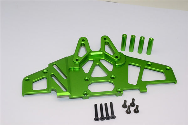 Axial Yeti XL Monster Buggy Aluminum Front Clip & Skid Plate - 1 Set Green