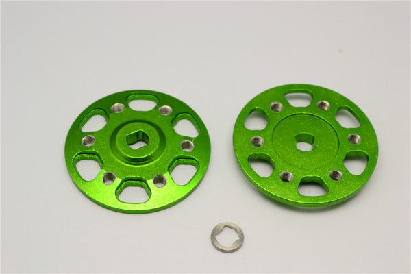 Axial Yeti & Yeti XL Aluminum Spur Gear Adapter - 2Pcs Set Green