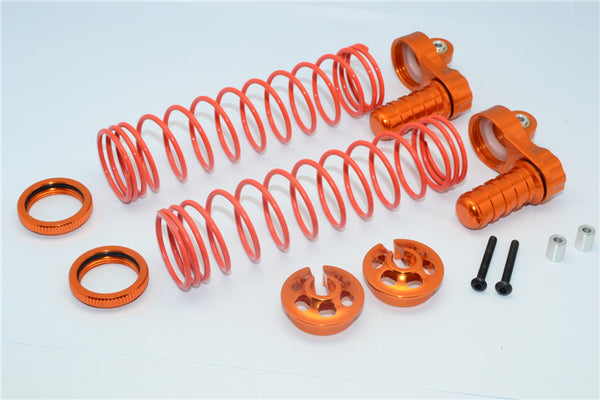 Axial Yeti XL Monster Buggy Aluminum Front/Rear Adjustable L-Shape Damper Components - 1 Set Orange