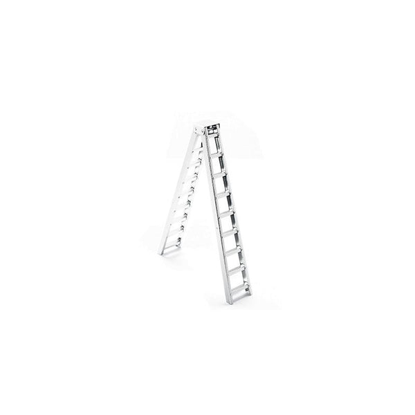 R/C Scale Accessories : Aluminum Simulation Long Step Ladder For 1:10 Crawlers - 1Pc Silver