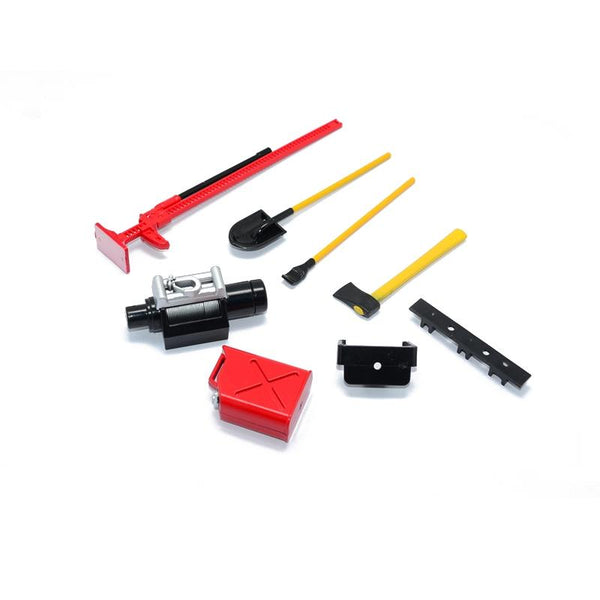 R/C Scale Accessories : Simulation Plastic Tool Set For 1:10 Crawlers - 7Pc Set