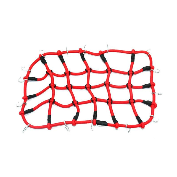 R/C Scale Accessories : Simulation Elastic Cargo Netting For 1:10 Crawlers - 1Pc Red