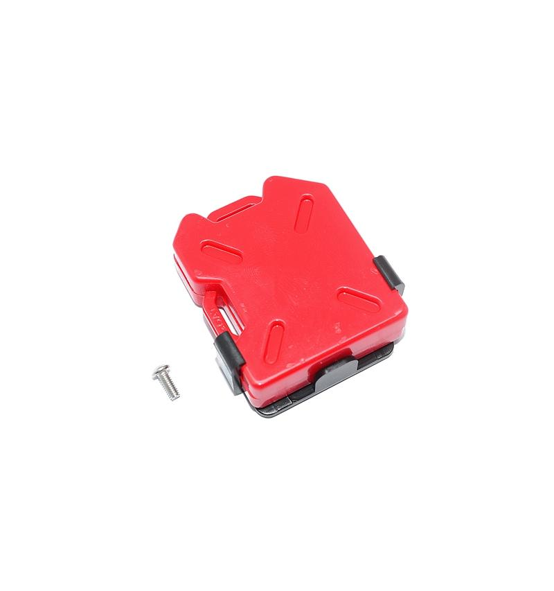 R/C Scale Accessories : Simulation Plastic Oil Tank For 1:10 Crawlers - 1 Set Red