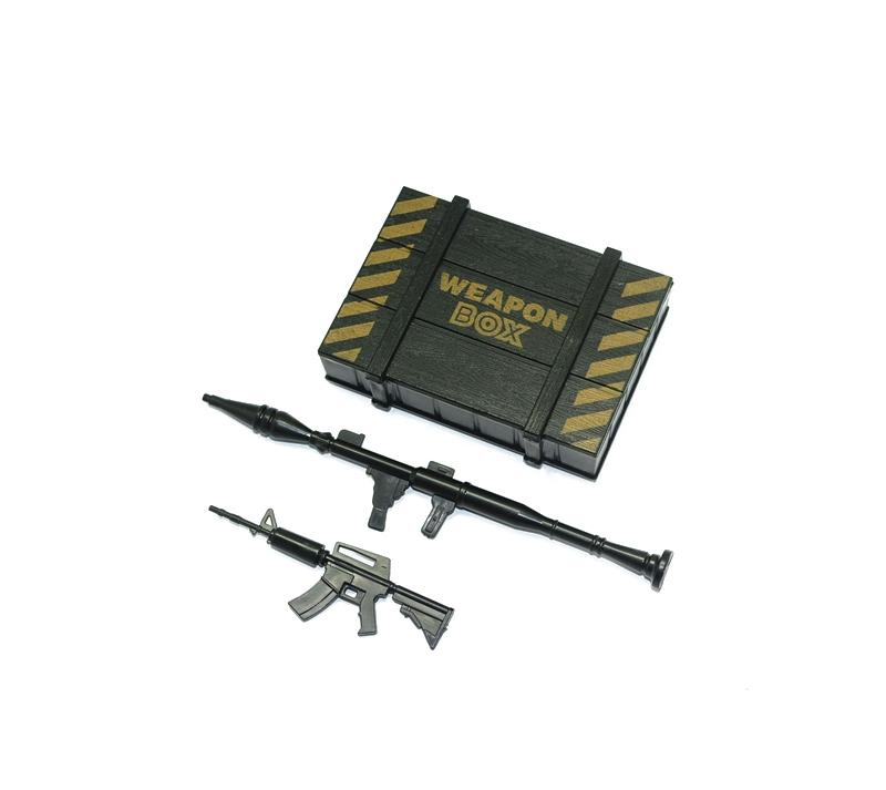 R/C Scale Accessories : Simulation Weapon Box +Weapons For 1:10 Crawlers - 1 Set