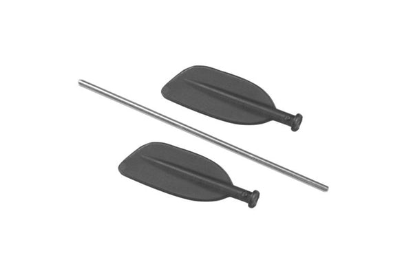 R/C Scale Accessories : Paddle For Canoe For 1:10 Crawlers - 3Pc Set Black
