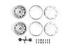 "R/C Scale Accessories : Aluminum Wheel 1.9"" For 1:10 Crawlers (Design B) - 24Pc Set Silver"