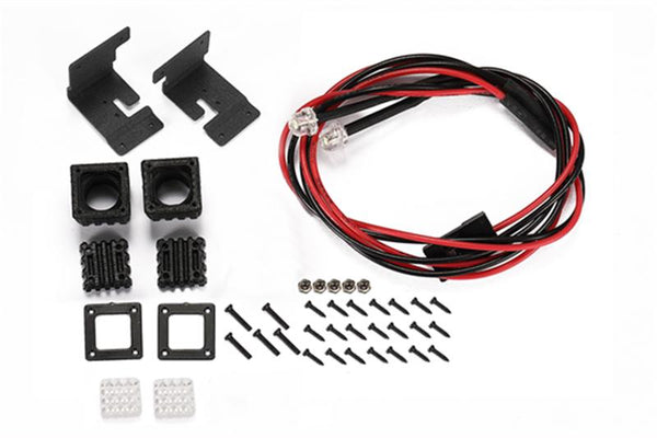 R/C Scale Accessories : Spotlight For 1:10 Crawlers (Style C) - 42Pc Set Black