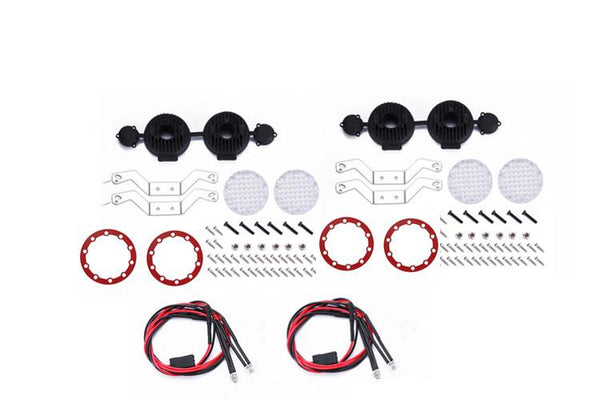 R/C Scale Accessories : RC Car Roof Spotlight For 1:10 Crawlers  - 106Pc  Set Red