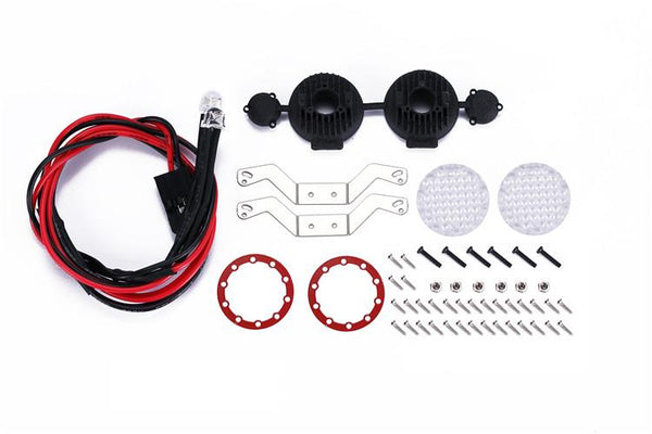 R/C Scale Accessories : RC Car Bumper Spotlight For 1:10 Crawlers - 53Pc  Set Red