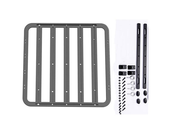 R/C Scale Accessories : Rc Car Metal Roof Luggage Rack For 1:10 Crawlers (Without Handle) - 39Pc Set Black
