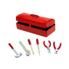 R/C Scale Accessories - Simulation Mini Hammer Wrench Tools Box for 1:10 Crawlers - 1 Set Red