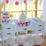 Torquay Party Hire White Dresser