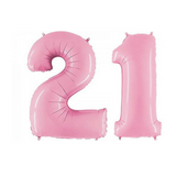 "21 Number Balloons Pastel Pink 100cm (40"") - This Little Party"