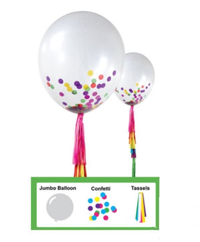 Giant Confetti Balloon Kit with Tassels - This Little Party