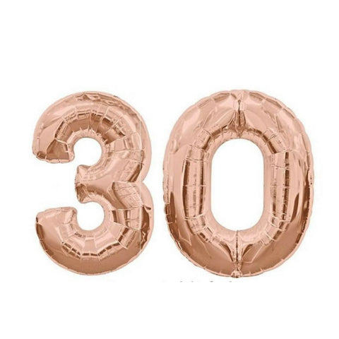 "30th Rose Gold Balloon Numbers 100cm (40"") 30 - This Little Party"