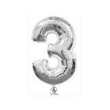 "30 Number Balloons Silver 100cm (40"") - This Little Party"