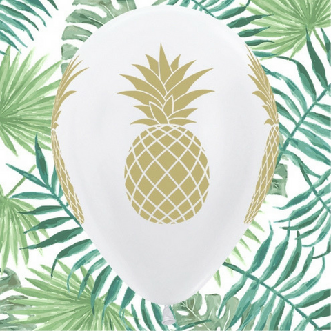 Gold Pineapple Balloons 6pk - This Little Party