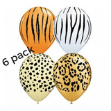 Animal Print Wild One Jungle Balloons 6pk - This Little Party