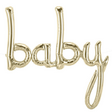 Baby Shower Balloon Banner White Gold - This Little Party