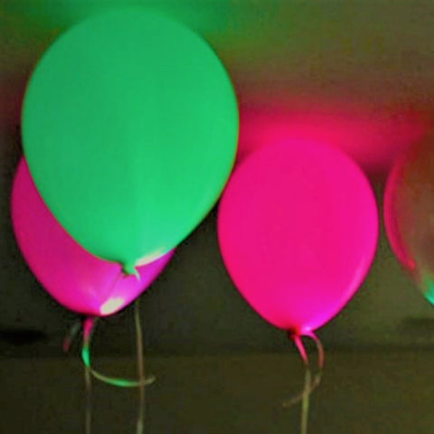Glow in the Dark Neon Black Light Balloons 6 Pk - This Little Party