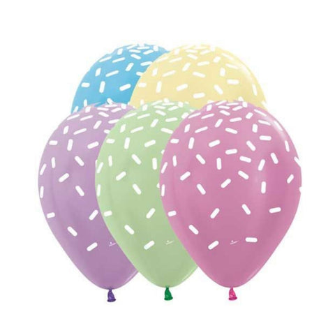 Pastel Funfetti Sprinkle Balloons Pkt 5 - This Little Party