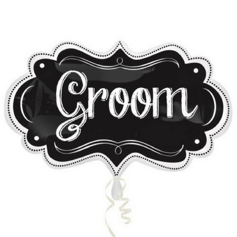 Groom Chalkboard Foil Balloon - This Little Party