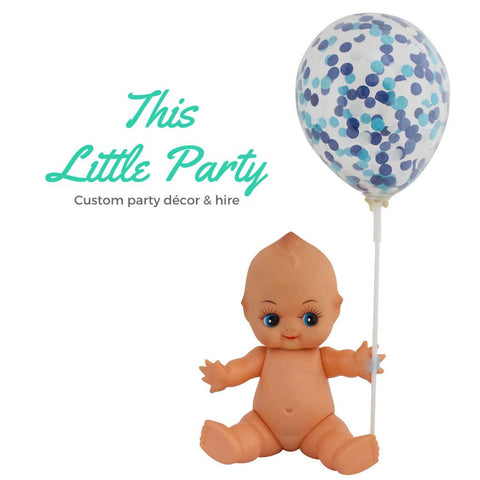 Blue Confetti Mini Balloons - Pack of 3 - This Little Party