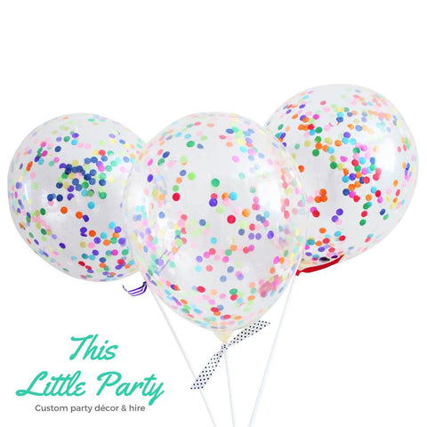 Rainbow Confetti Balloon Kit - This Little Party