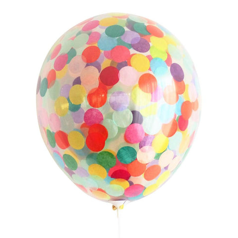Rainbow Confetti balloon - Larger 40cm Size - This Little Party