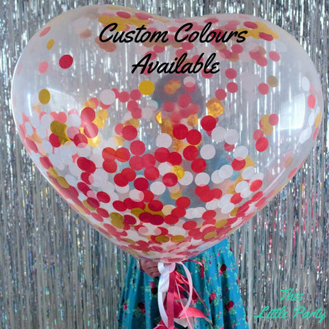Giant Confetti Heart Proposal Balloon! - This Little Party