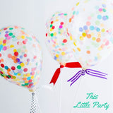 Mini Rainbow Confetti Balloon Party Kit! - This Little Party