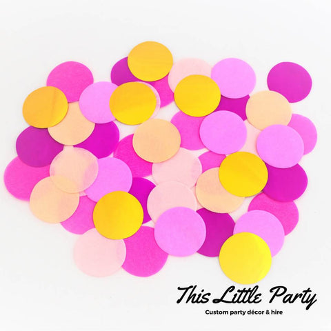 Pink & Gold Jumbo Confetti Mix - This Little Party