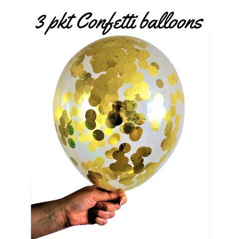 Gold Confetti Balloons Pkt 3 - This Little Party
