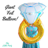 Gold Wedding Ring Foil Balloon - This Little Party